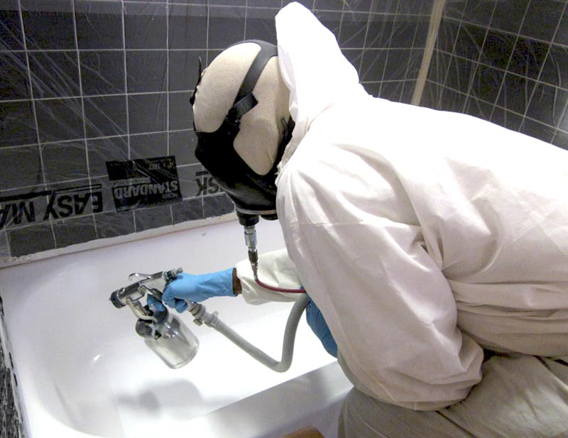 bathtub-refinishing equipment